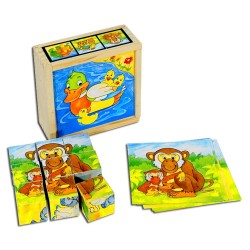 PINO Cubes 9 pieces Animal...