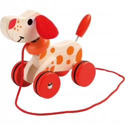 Walking Dog - Wooden Pull Toy, Joueco