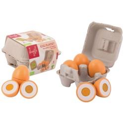 Дървени яйца - Комплект за детска кухня, Jouéco