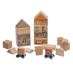 Wooden Blocks, 25pcs, Lucy&Leo