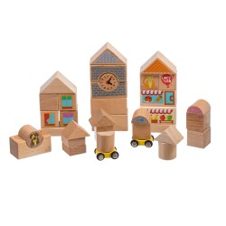 Wooden Blocks, 35pcs, Lucy&Leo