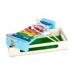 Дървена музикална играчка Pino, Ксилофон - Лисиче, в...