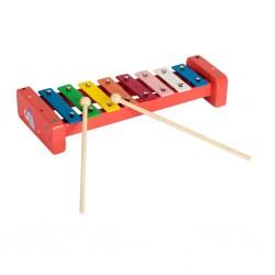 Дървена музикална играчка Pino, Ксилофон - Слонче, в...