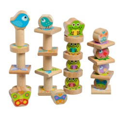 Wooden Balance Game - My Little Friends, Lucy&Leo