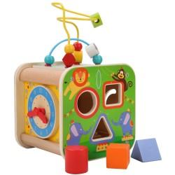 Дървен дидактически куб -...