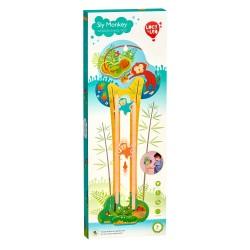 Дървена интерактивна играчка за стена - Маймунка, Lucy&Leo