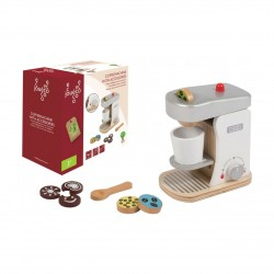 Wooden coffeemachine with accessories, Joueco
