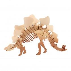 """Дървен 3D пъзел """"Динозаври"""" - Стегозавър"""