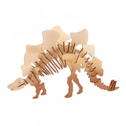 Wooden 3D Dinosaur puzzle - Stegosaurus