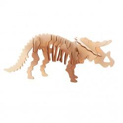 """Дървен 3D пъзел """"Динозаври"""" - Трицератопс"""