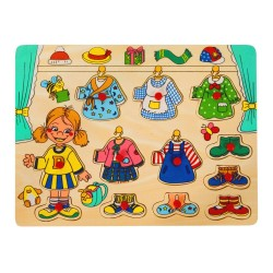 PINO Dress Up Peg Puzzle Girl
