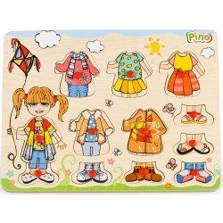 PINO Dress Up Peg Puzzle Girl - Seasons