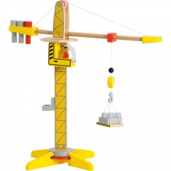 Wooden Crane with accessories, Joueco