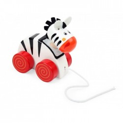 PINO Wooden Pull-along Toy - Zebra