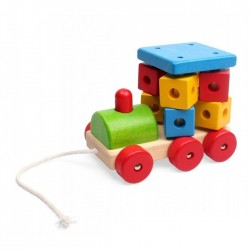 PINO Pull-along Wooden Locomotive, Rubberwood