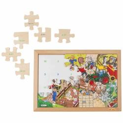Wooden Math Puzzle Educo - subtraction