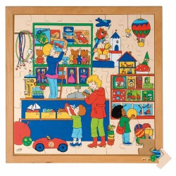 Wooden Shopping Puzzle, Educo - Toy shop