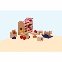 Мебели за къща за кукли Educo - Детска стая