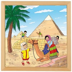 """Wooden puzzle """"Wonders of the world"""", Educo - Pyramids"""