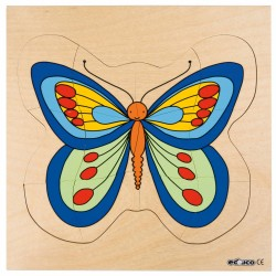Пеперуда - дървен пъзел, представящ растежа, Educo
