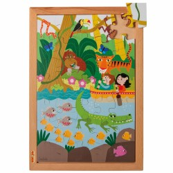 """Wooden puzzle """"Above and beneath"""", Educo - Jungle"""