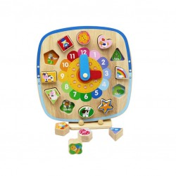 Educational Shape Sorting Clock Pino, with Magnetic...