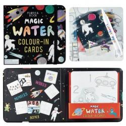 Карти за оцветяване с вода - Magic Water, Floss&Rock -...