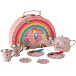 Tin Tea Set 10 Piece - Rainbow Fairy - Floss&Rock