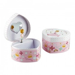 Musical Jewellery Box - Princess (heart shaped) - Floss&Rock