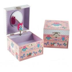 Musical Jewellery Box - Owl & Butterfly - Floss&Rock