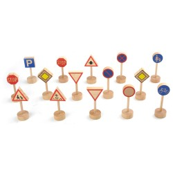 PINO Wooden Traffic Signs Set