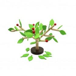 Дървена игра за баланс Pino - Ябълково дърво - с...