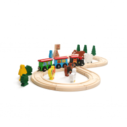 PINO Wooden Train Set