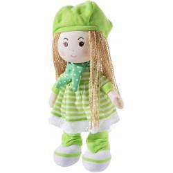 Мека кукла със зелена шапчица, серия Poupetta, Heunec, 30см