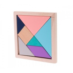 Wooden Tangram jigsaw puzzle