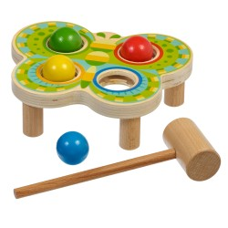 Wooden Hammer Game with Balls - Butterfly, Lucy&Leo