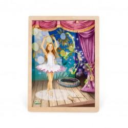 Дървен пъзел Pino, 48 части - Балерина