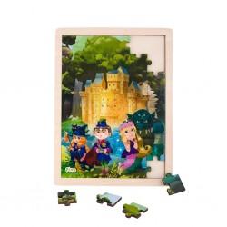 Дървен пъзел Приказки, Pino, 48 части - Замък