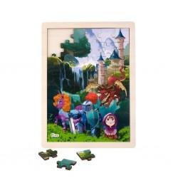 Дървен пъзел Приказки, Pino, 48 части - Водопад