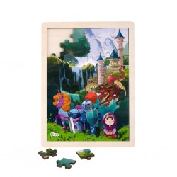 Wooden puzzle Fairy Tales, Pino, 48 elements, Waterfall