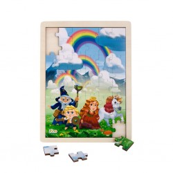 Wooden puzzle Fairy Tales, Pino, 48 elements, Rainbow