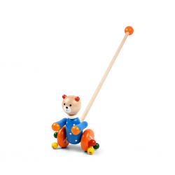 Дървена играчка за бутане...