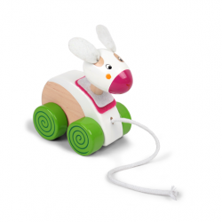 PINO Wooden Pull-along Toy - Rabbit