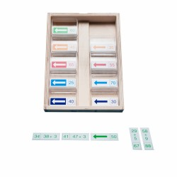 Math dominoes addition up to 100, Jegro