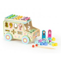 Wooden Sorter with Xylophone - Bus, EcoToys