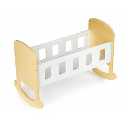 Doll's Wooden Rocking Cradle, EcoToys