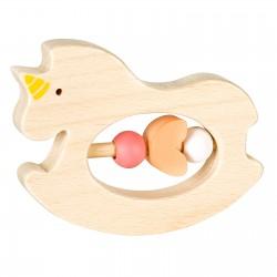 Дървена бебешка дрънкалка Lule - Еднорог