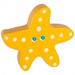 Дървена бебешка дрънкалка Lule - Морска звезда