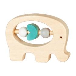 Дървена бебешка дрънкалка Lule - Слонче