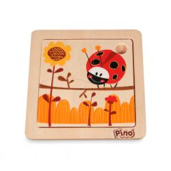 PINO Mini-puzzle Ladybug (4...